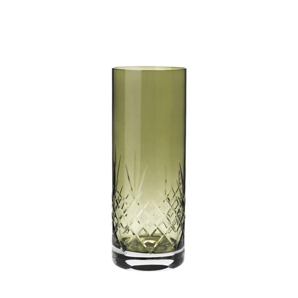 Frederik Bagger - Crispy Emerald Love 2 Crystal Vase (10385)