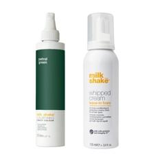 milk_shake - Whipped Cream 100 ml + Direct Colour 100 ml - Petrol Green
