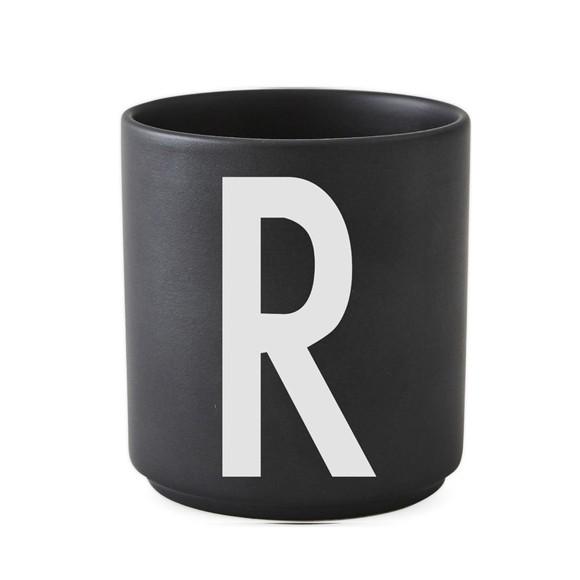 Design Letters - Personal Porcelain Cup R - Black
