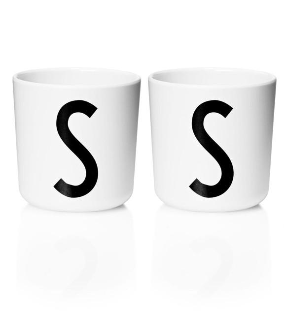 Design Letters - Personal Melamine Cup S - 2 pcs - White