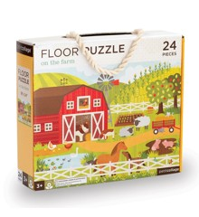 Petit Collage - Floor puzzle - On the farm, 24 pcs