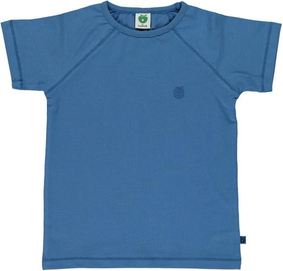 Småfolk - Organic Basic T-Shirt - M. Blue