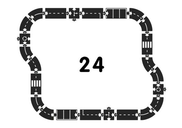 Waytoplay - Motorvej, bilbane i gummi, 24 dele