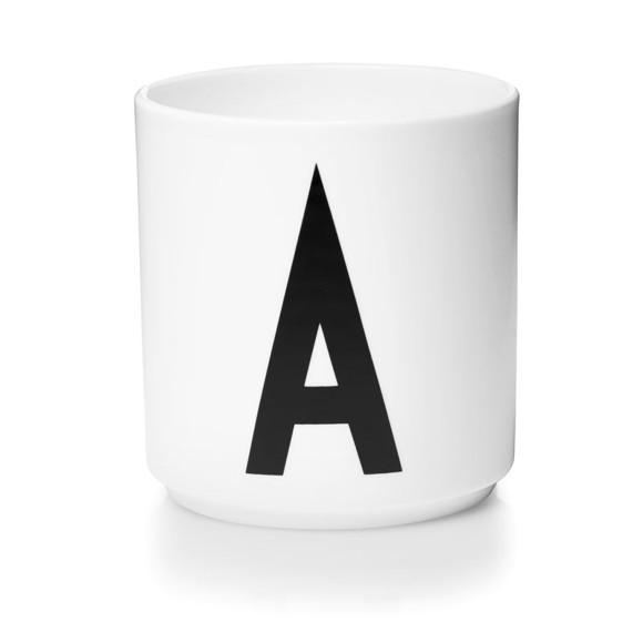 Design Letters - Personlig Porcelænskop A - Hvid