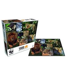 WWF - Puslespil - Vilde Katte (1000 brk.)