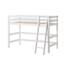 Hoppekids - PREMIUM Mid-high Bed 90x200 with Slant Ladder