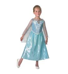 Kostume - Elsa Kjole Med musik og lys (5-6 år)