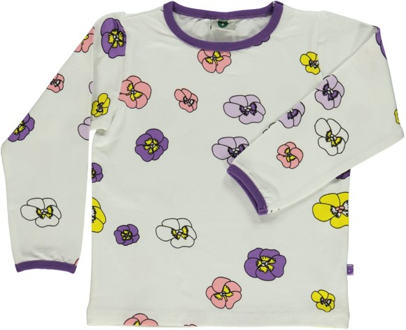 Småfolk T-shirt w. Flower print.