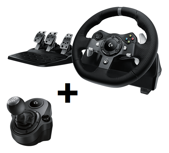 Logitech G920 Driving Force + Driving Force Shifter Bundle For PC & XB1
