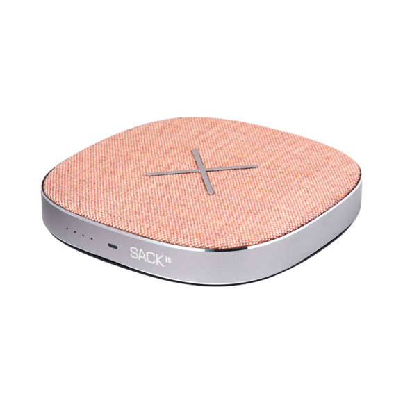 SACKit CHARGEit - Power Bank & wireless Charger ( Rose )