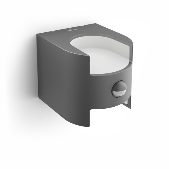 Philips - Grass IR wall lantern anthracite 2x4.5W MyGarden
