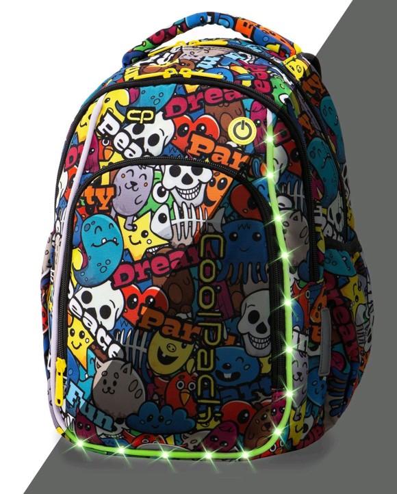 Coolpack - Skoletaske med LED-belysning - Cartoon