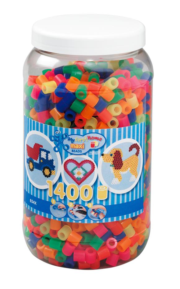 HAMA Beads - Maxi - Beads in tub - 1400 pcs - Neon Mix