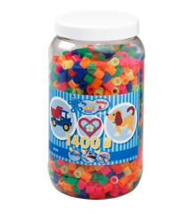 HAMA Perler - Maxi - 1400 Perler i dåse - Neon Mix