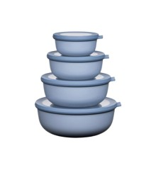Rosti Mepal - Cirqula Low Bowl Set Of 4 - Nordic Blue (233102)