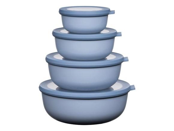 Rosti Mepal - Cirqula Low Bowl Set Of 4 - Nordic Blue (233102)