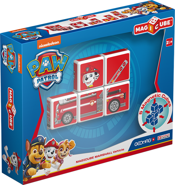 Geomag Magicube - Paw Patrol Marshall vehicle (1080)