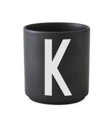 Design Letters - Personal Porcelain Cup K - Black (10204000K)