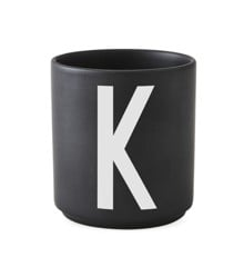 Design Letters - Personal Porcelain Cup K - Black