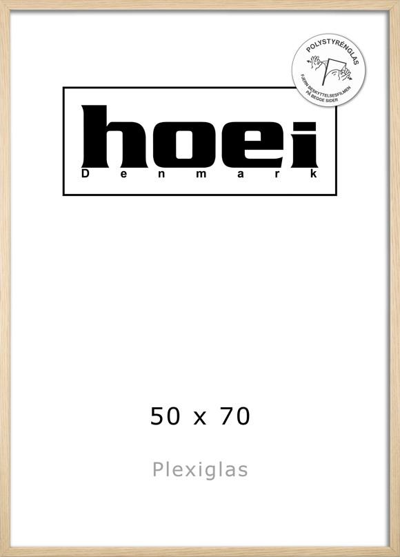 Hoei Denmark - Hoei 114 Frame Plexiglass 50 x 70 cm - Oak Look
