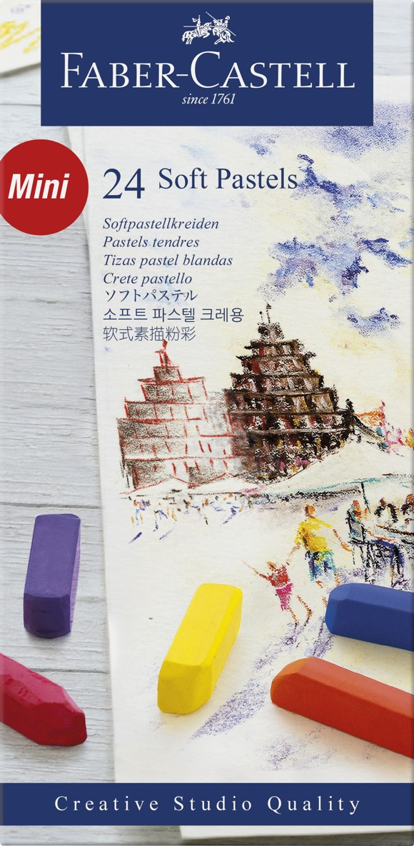 Faber-Castell - Bløde pastelkridt, 24 stk (128224)