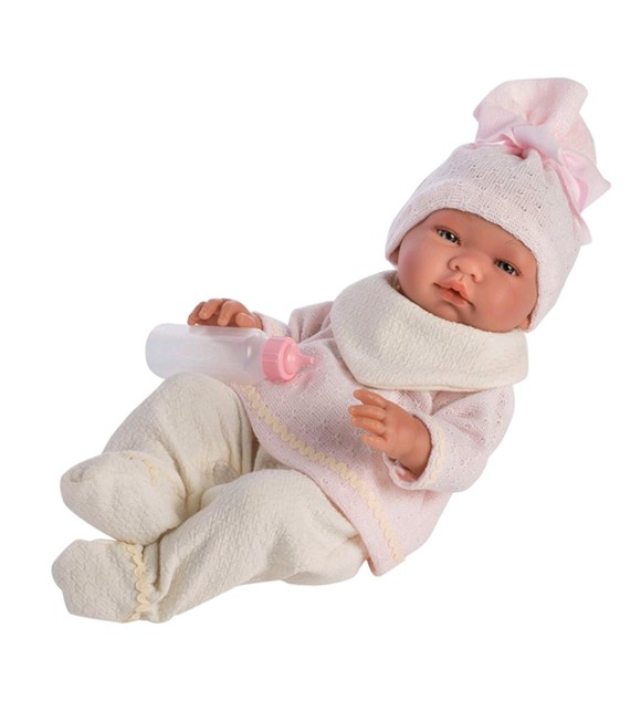 Asi dolls - Maria doll in white and rose suit (43 cm)