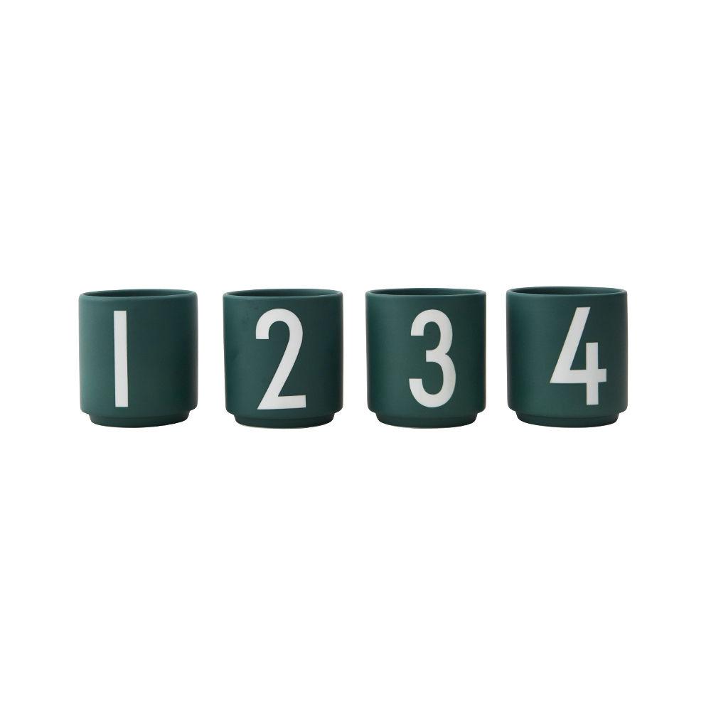 Design Letters - Espresso Porcelain Cup Set 1234 - Green (10102001DARKGREEN)