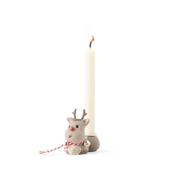 Klarborgnisser - Rudolf & Smukke Candleholder (93476)