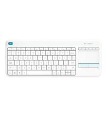 Logitech Wireless Touch Keyboard K400 Plus white (Pan Nordic)