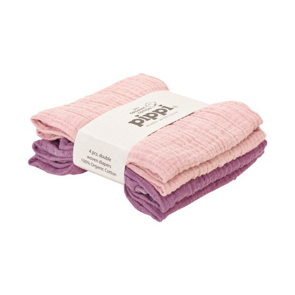 Pippi - Organic Cotton Diapers 4 pack