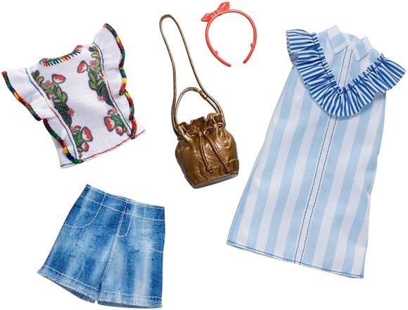 Barbie - Fashion 2 Pack - Ruffles & Stripes (FXJ63)