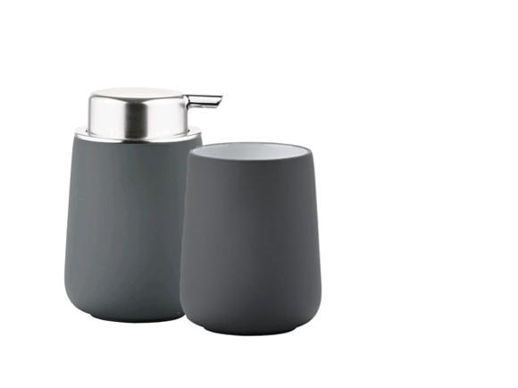 Zone - Nova Toothbrush Holder and Soap Dispenser - Grey