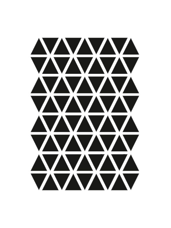 Ferm Living - Mini Triangles Wallstickers - Black