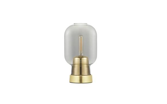 Normann Copenhagen - Amp Table Lamp - Smoke/Brass (502168)