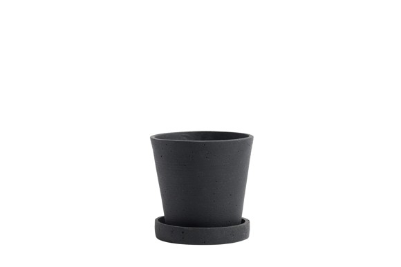 HAY - Flowerpot m/skål Small - Sort