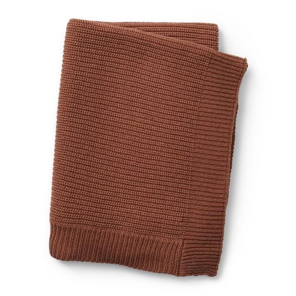 Elodie Details - Wool Knitted Blanket - Burned Clay