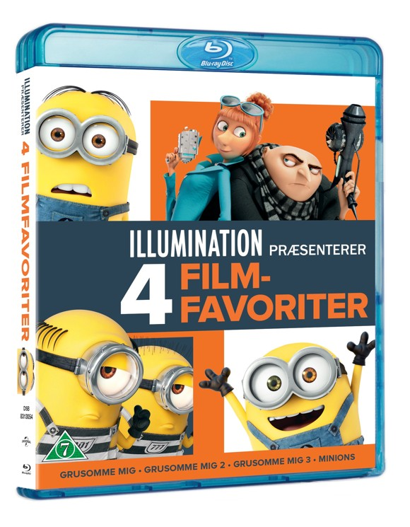 Grusomme Mig 1-3 + Minions Collection (Blu-Ray)