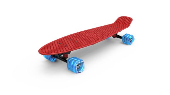 Shark Wheel - Skateboard, Punainen
