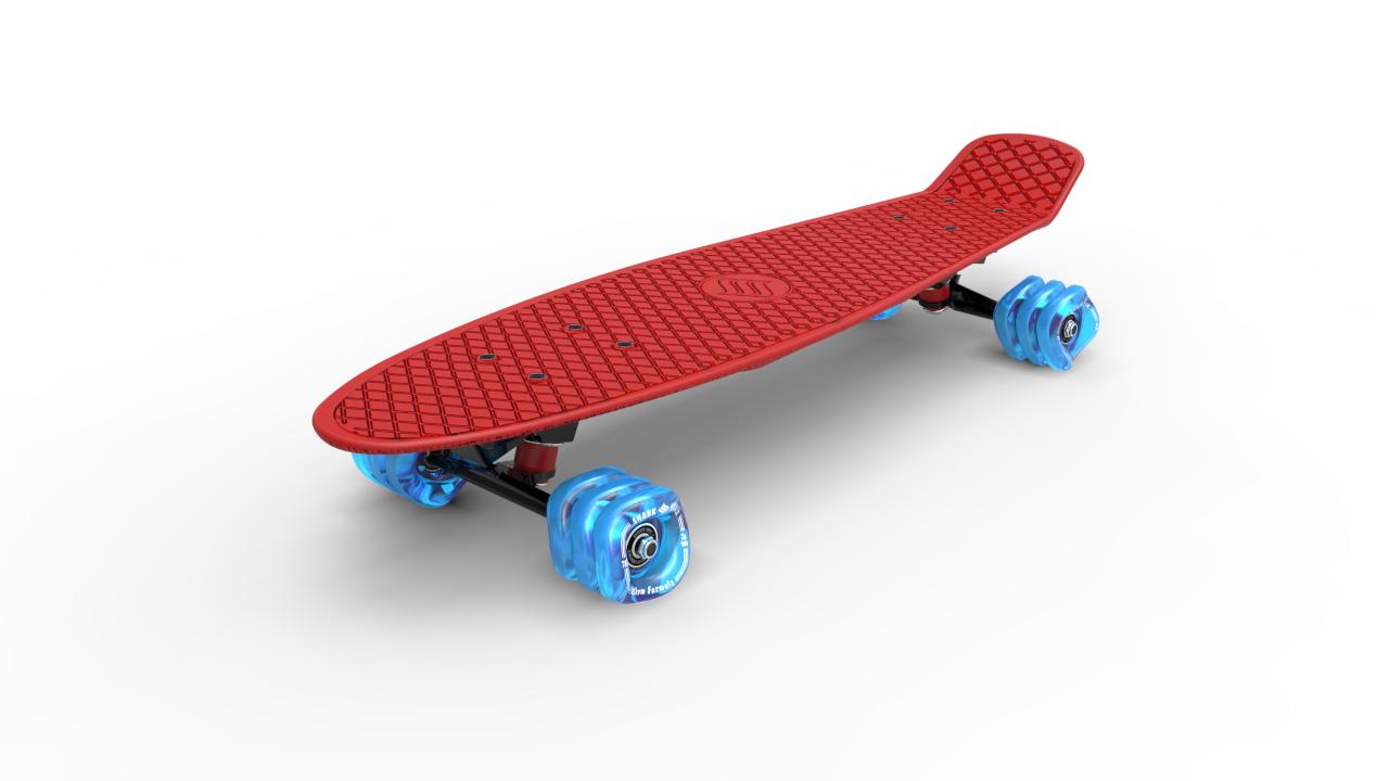 Shark Wheel - Skateboard, Rot
