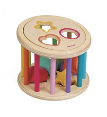 Janod - I Wood Shape Sorter Drum (5336)