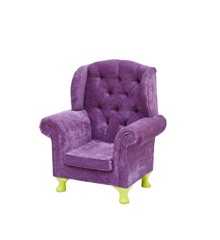 Rice - Kids Wing Chair - Pink w. Yellow Legs