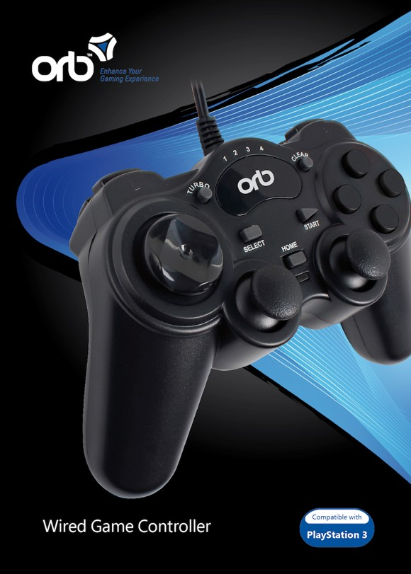 Wired Playstation 3 Controller (ORB)