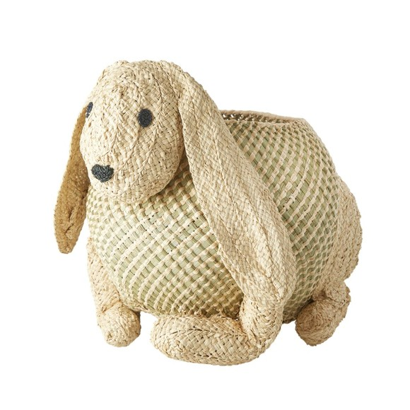 Rice - Woven Animal Storage - Bunny