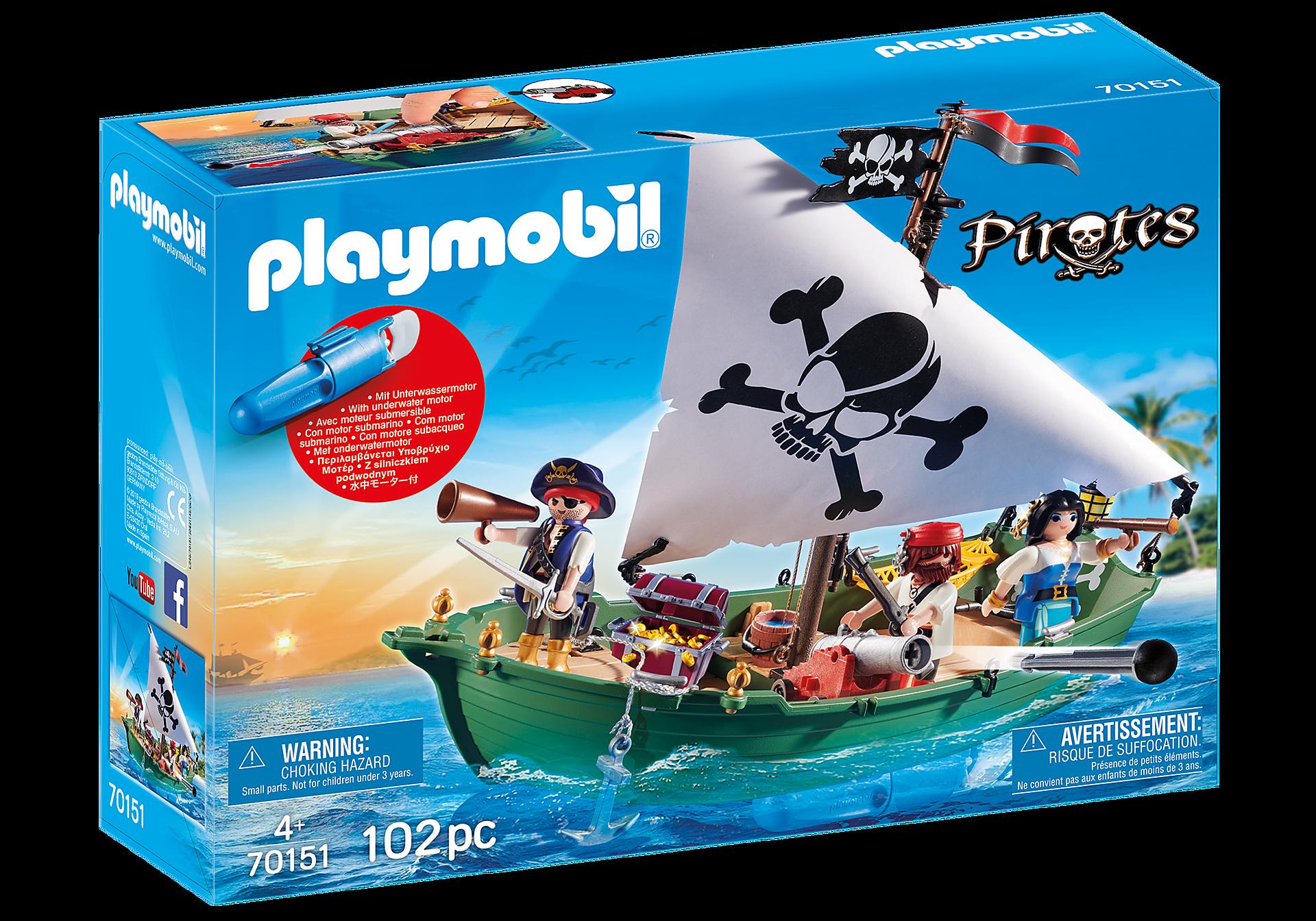 Playmobil - Pirate Ship with Underwater Motor (70151)