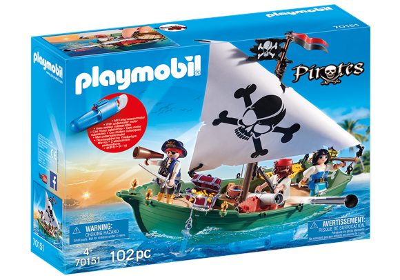 Playmobil - Pirate Ship with Underwater Motor (70151)