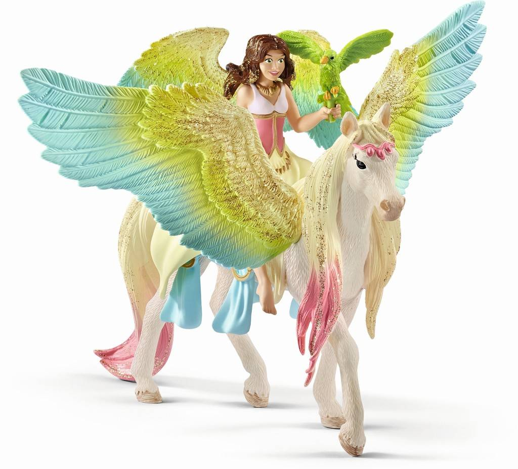 Schleich - Fairy Surah with glitter Pegasus (70566)
