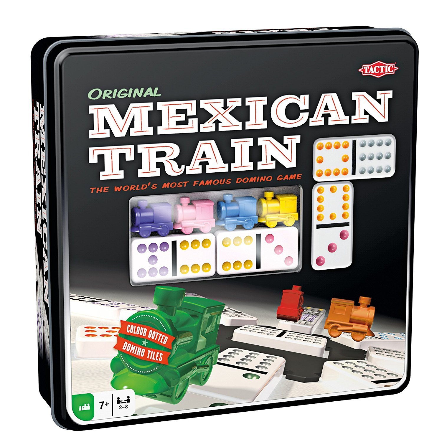 Tactic - Mexican Train Domino Blechbox