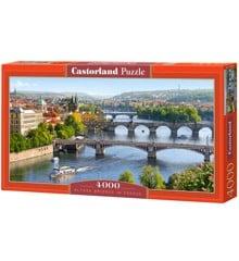 Castorland - Puzzle 4000 Pieces - Vltava Bridges in Prague