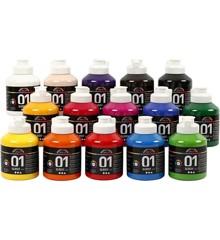 A-Color - Acrylfarbe - Glänzend - (15 x 500 ml)