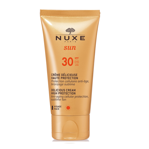 Nuxe Sun - Delicious Solcreme til Ansigt 50 ml - SPF 30